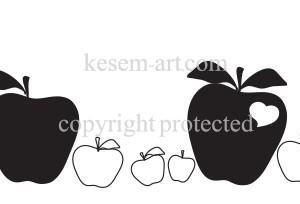 בורדר תפוחים מגוונים