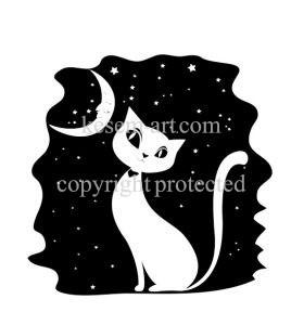 חתול בליל ירח